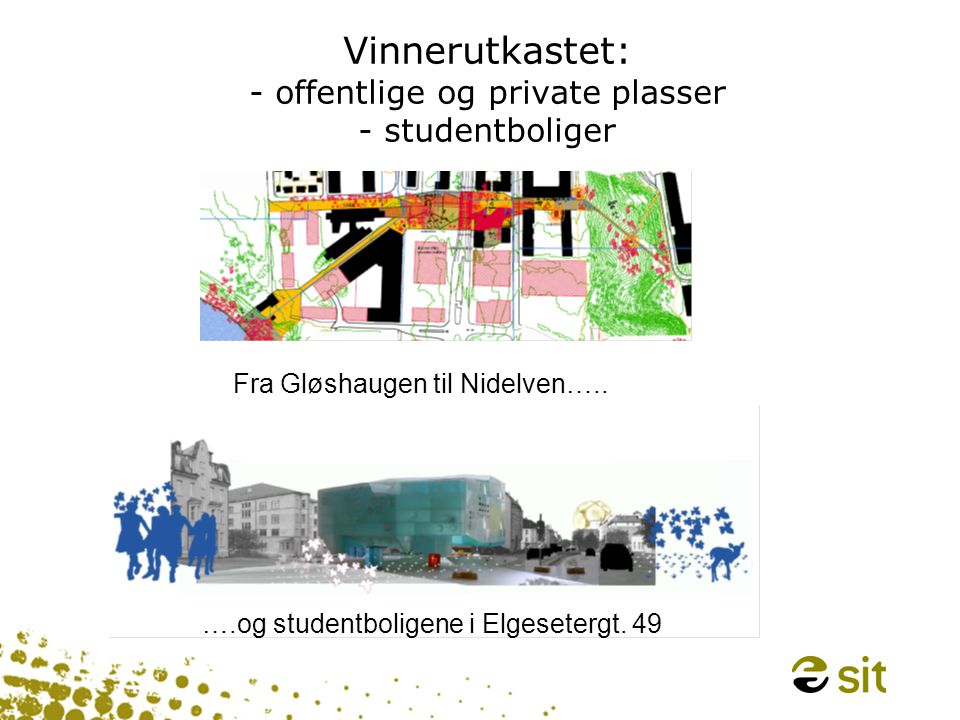 Vinnerutkastet: - offentlige og private plasser - studentboliger