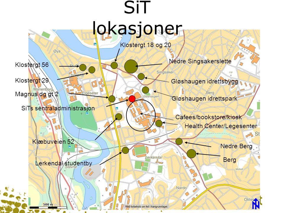 SiT lokasjoner Klostergt 18 og 20 Nedre Singsakerslette Klostergt 56