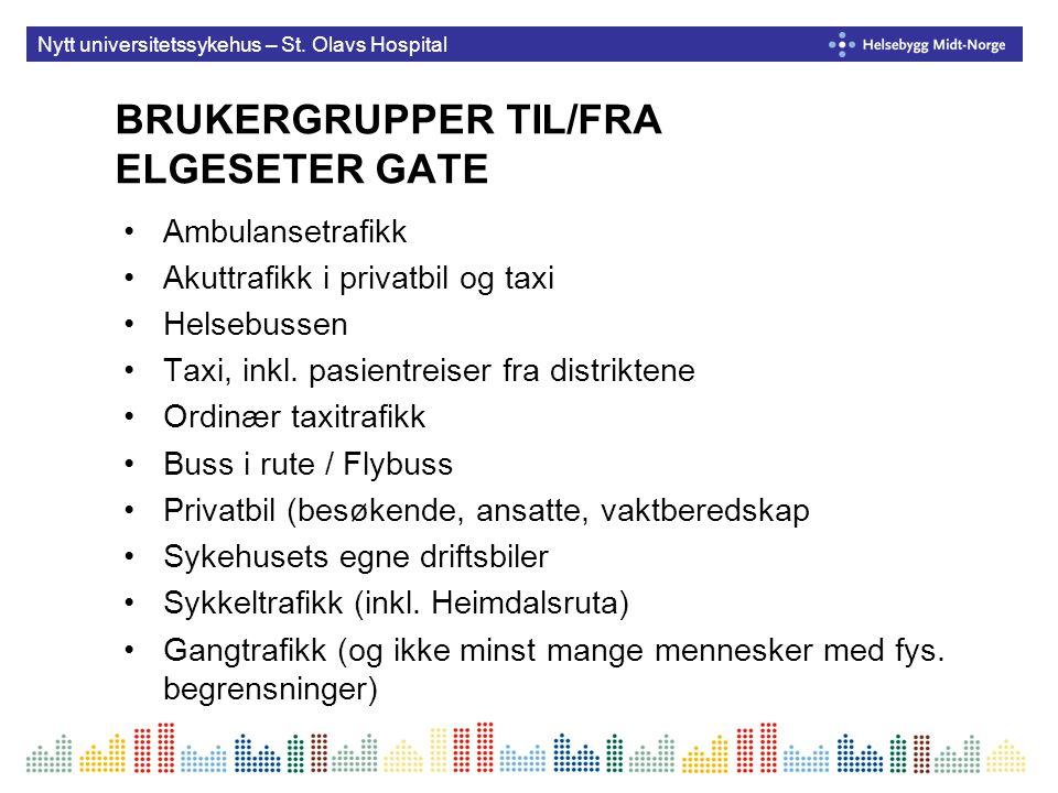 BRUKERGRUPPER TIL/FRA ELGESETER GATE