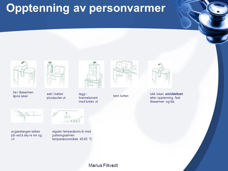 Opptenning av personvarmer