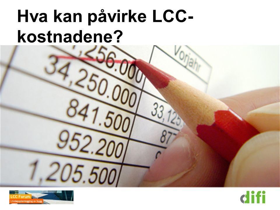 Hva kan påvirke LCC-kostnadene