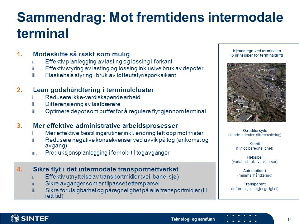 Sammendrag: Mot fremtidens intermodale terminal