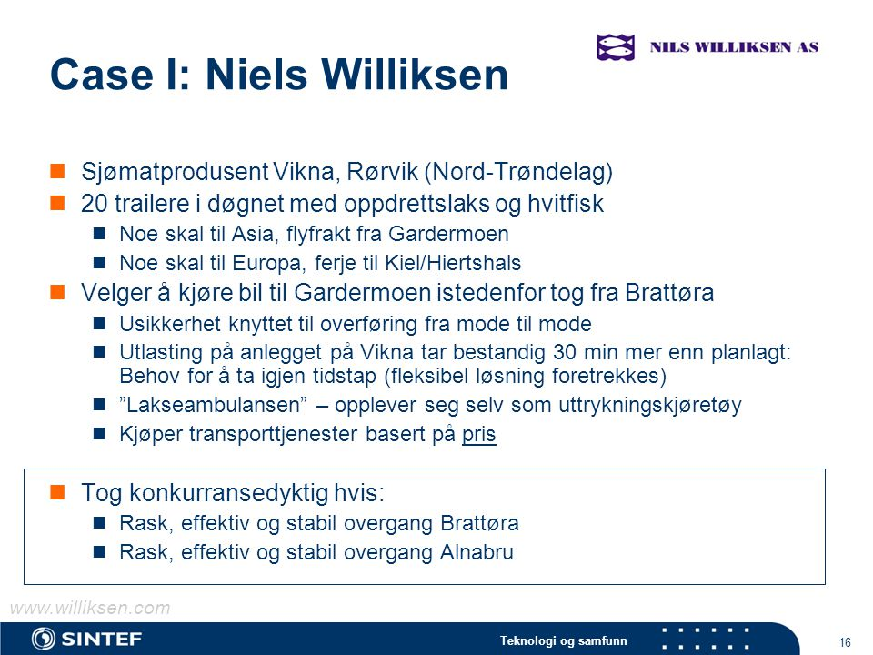 Case I: Niels Williksen