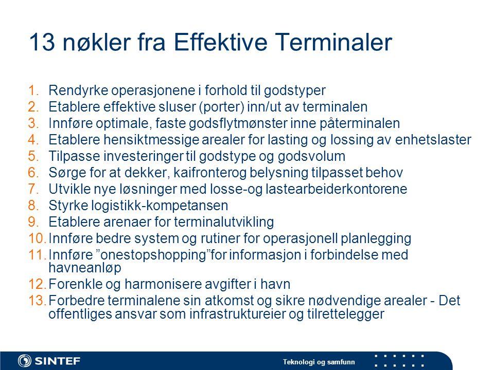 13 nøkler fra Effektive Terminaler