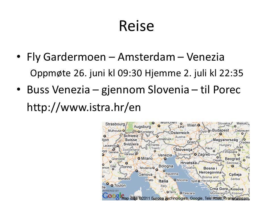 Reise Fly Gardermoen – Amsterdam – Venezia