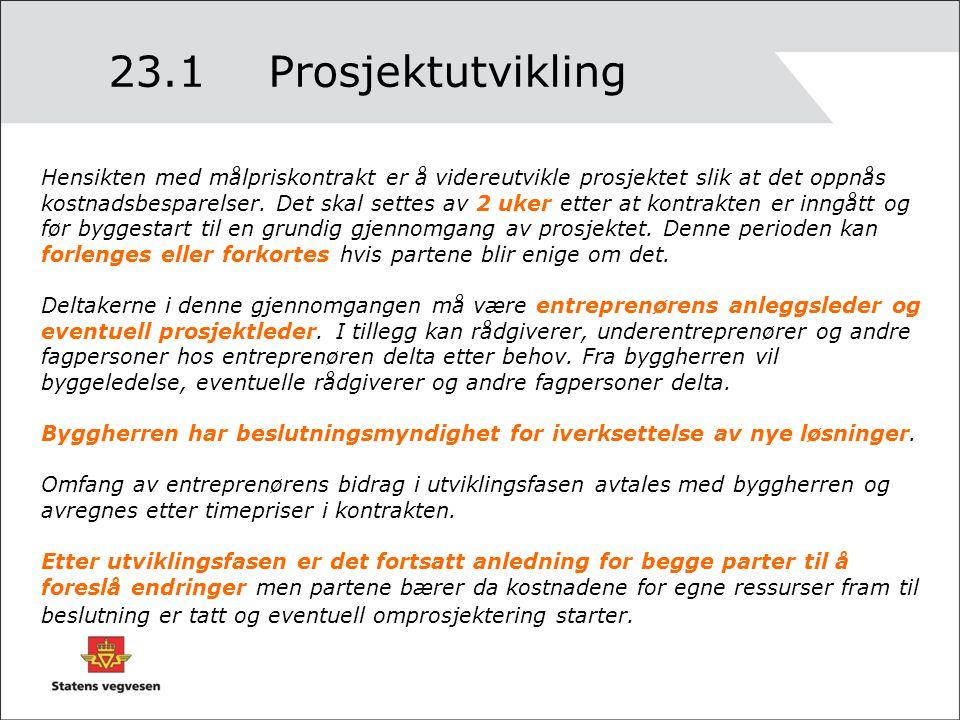 23.1 Prosjektutvikling