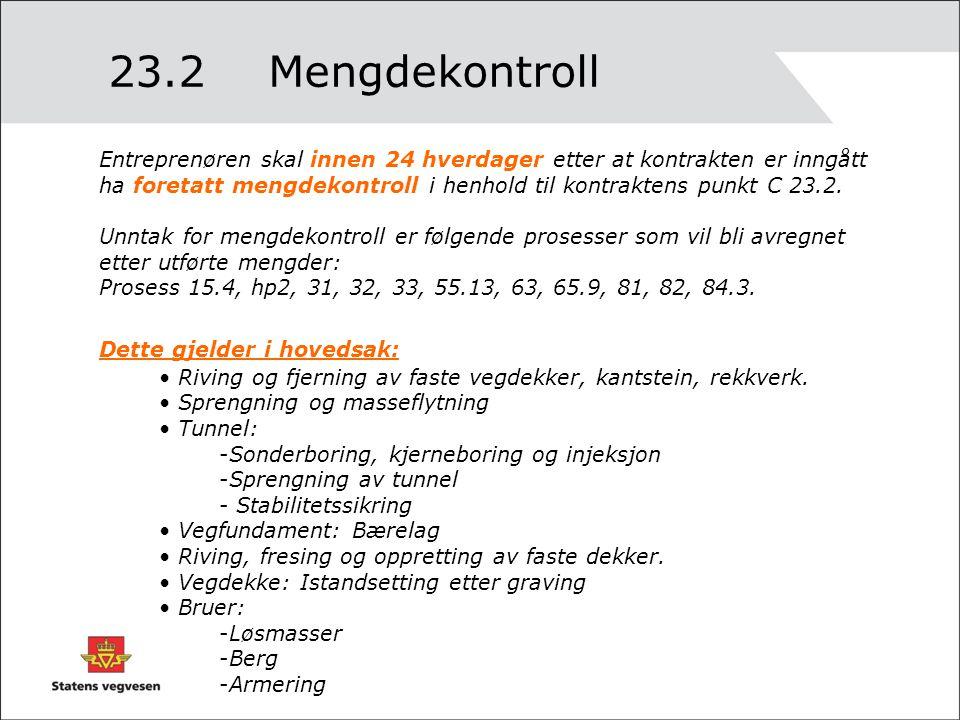 23.2 Mengdekontroll