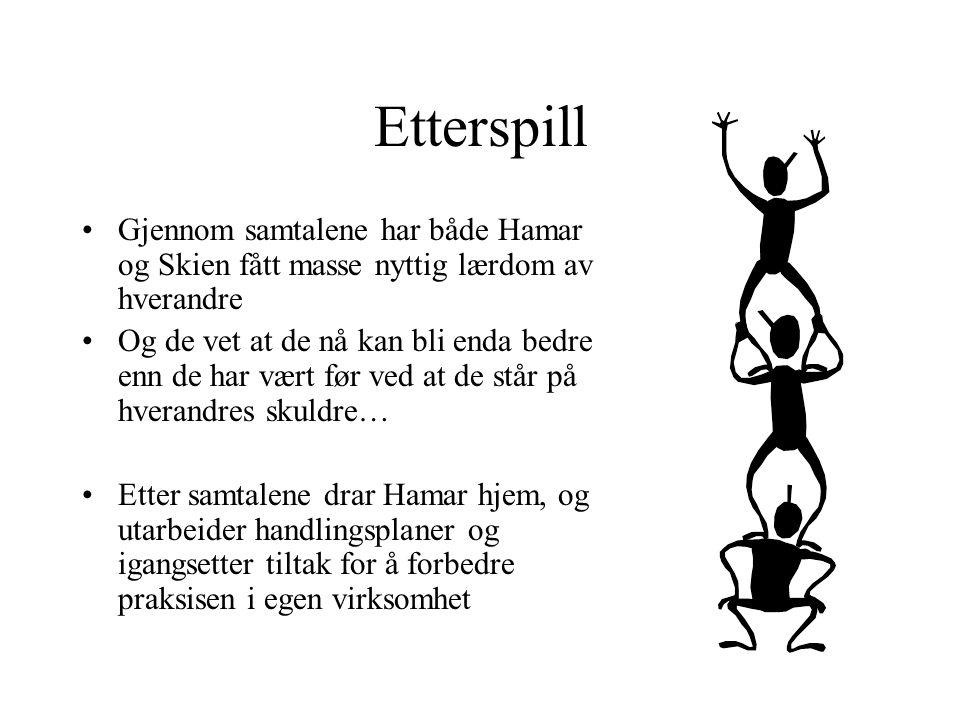 Etterspill Gjennom samtalene har både Hamar og Skien fått masse nyttig lærdom av hverandre.
