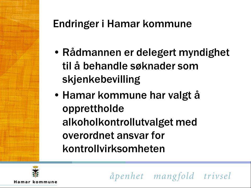 Endringer i Hamar kommune