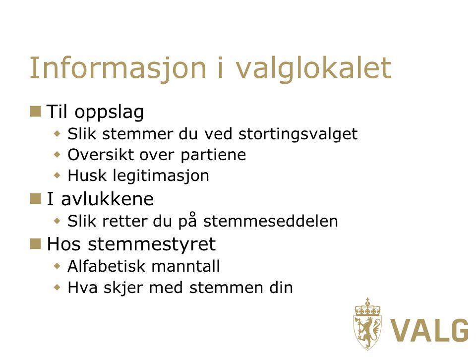 Informasjon i valglokalet