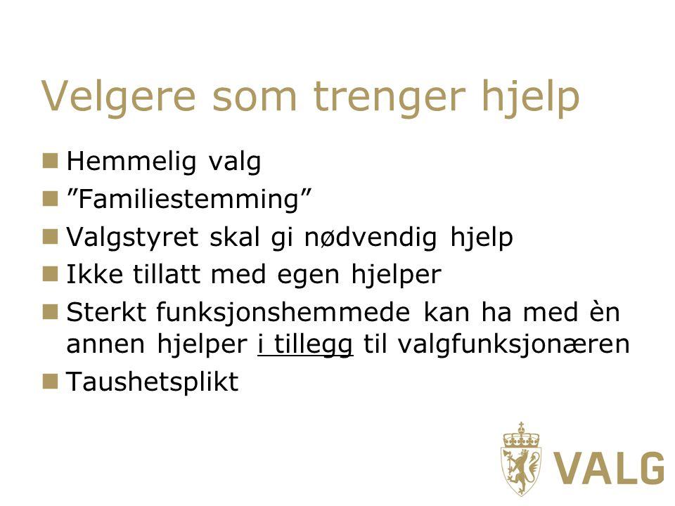 Velgere som trenger hjelp