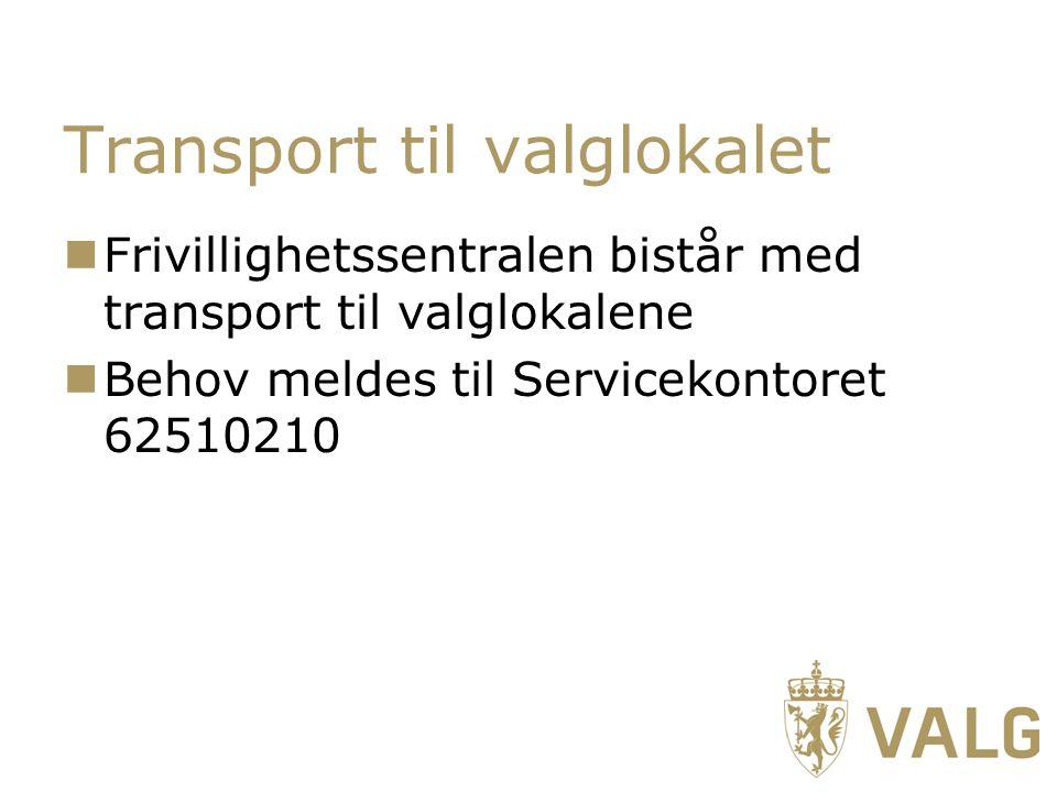 Transport til valglokalet