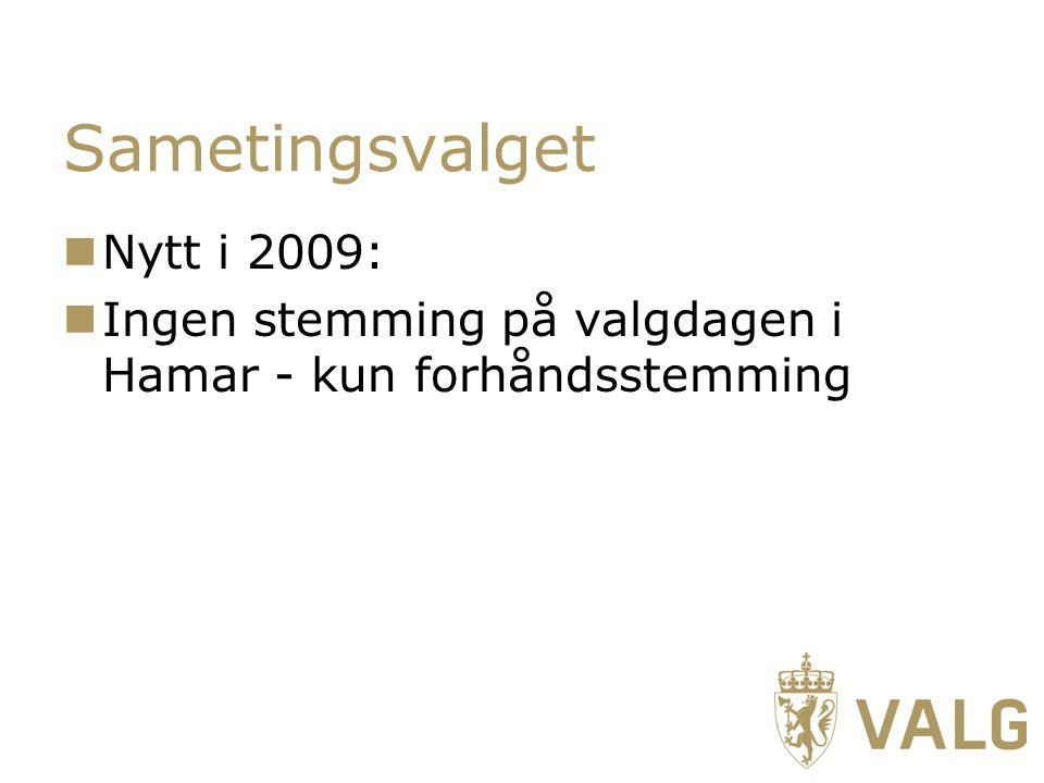 Sametingsvalget Nytt i 2009: