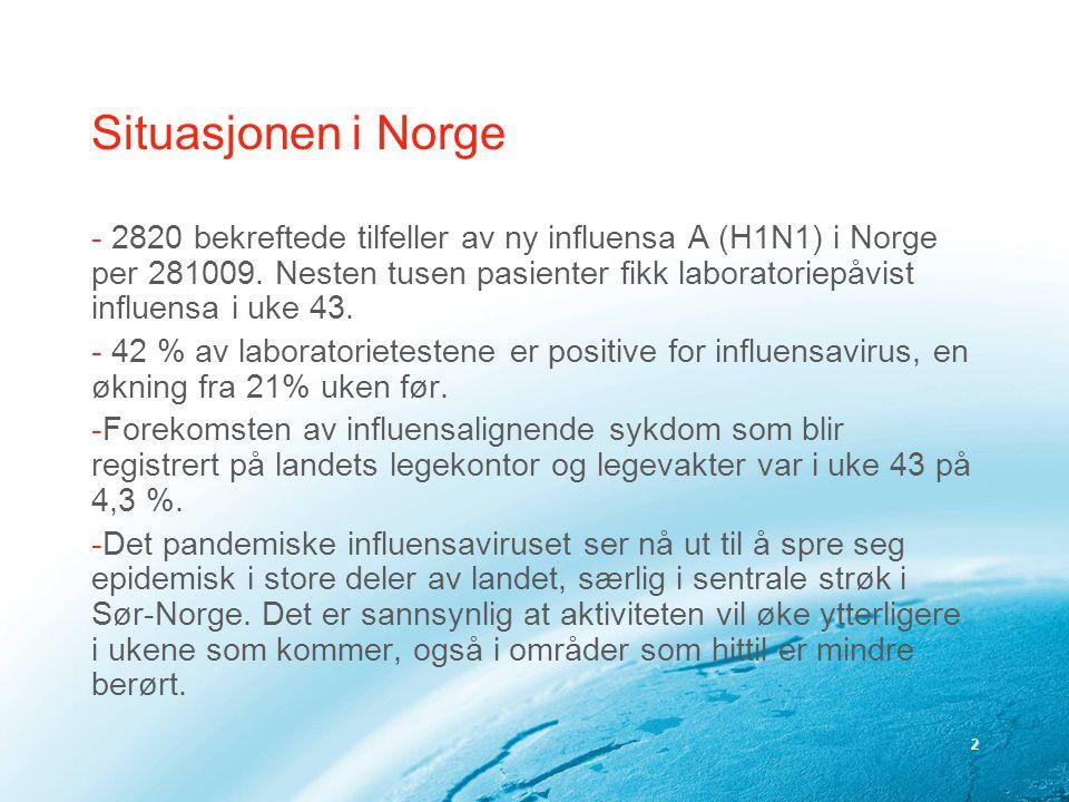 Situasjonen i Norge