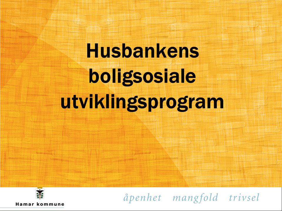 Husbankens boligsosiale utviklingsprogram
