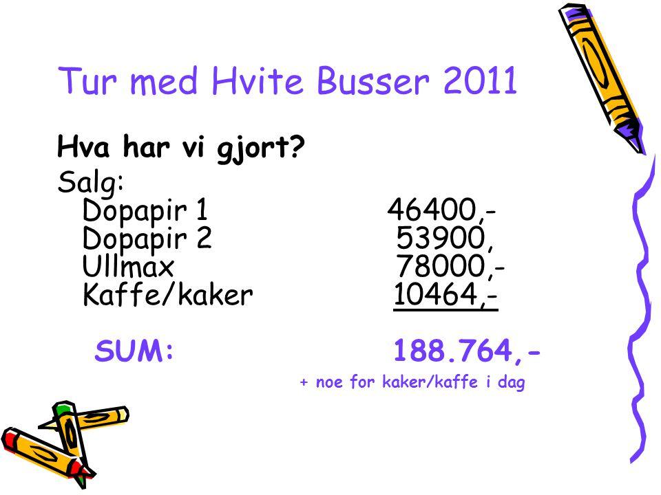 Tur med Hvite Busser 2011 Hva har vi gjort