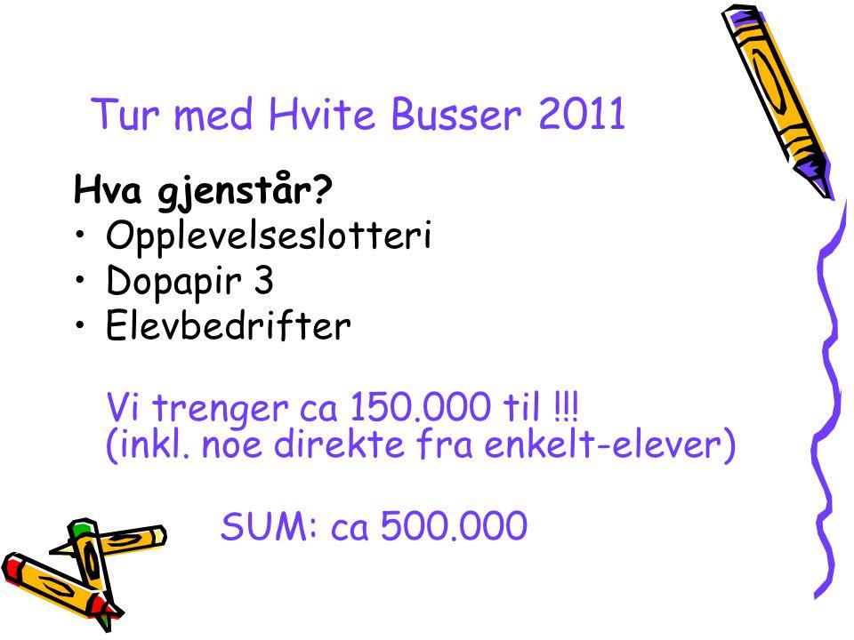 Tur med Hvite Busser 2011 Hva gjenstår Opplevelseslotteri Dopapir 3