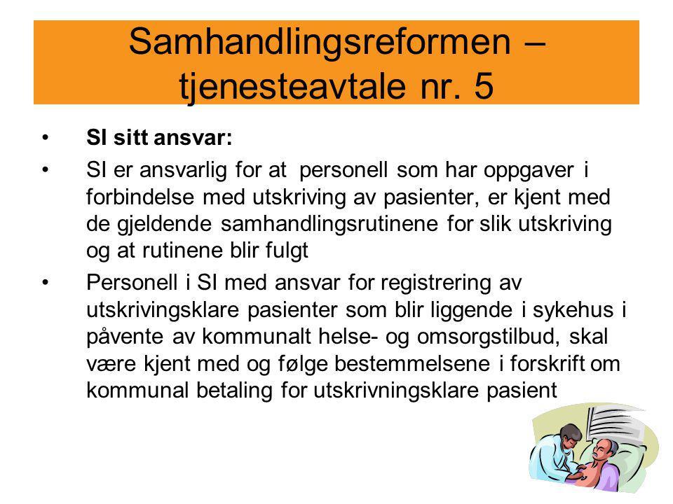 Samhandlingsreformen – tjenesteavtale nr. 5