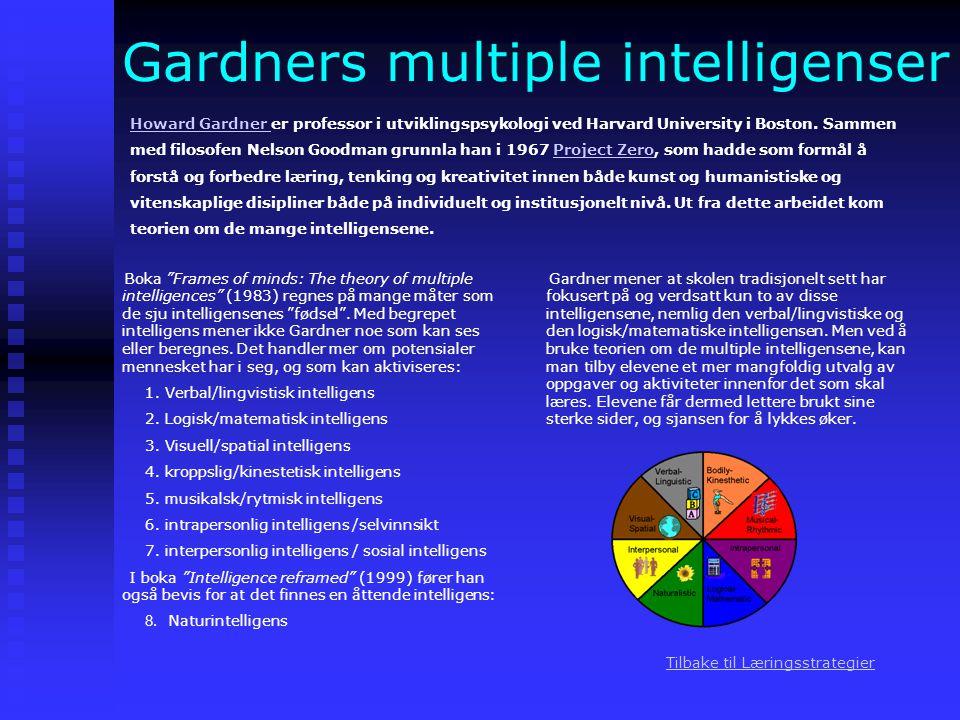 Gardners multiple intelligenser