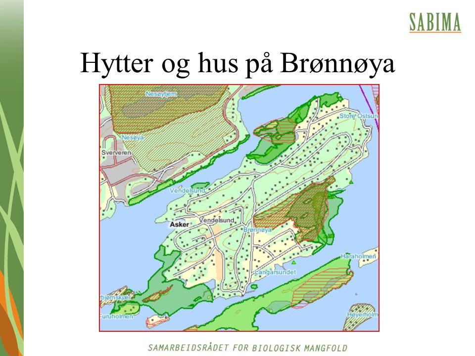 Hytter og hus på Brønnøya