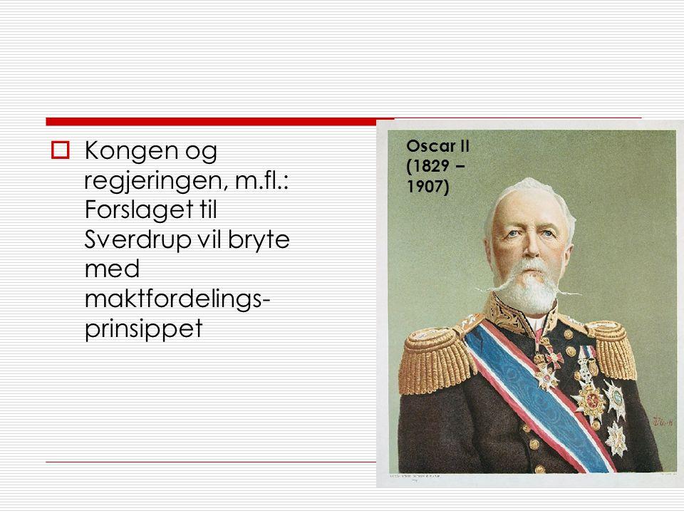 Kongen og regjeringen, m. fl