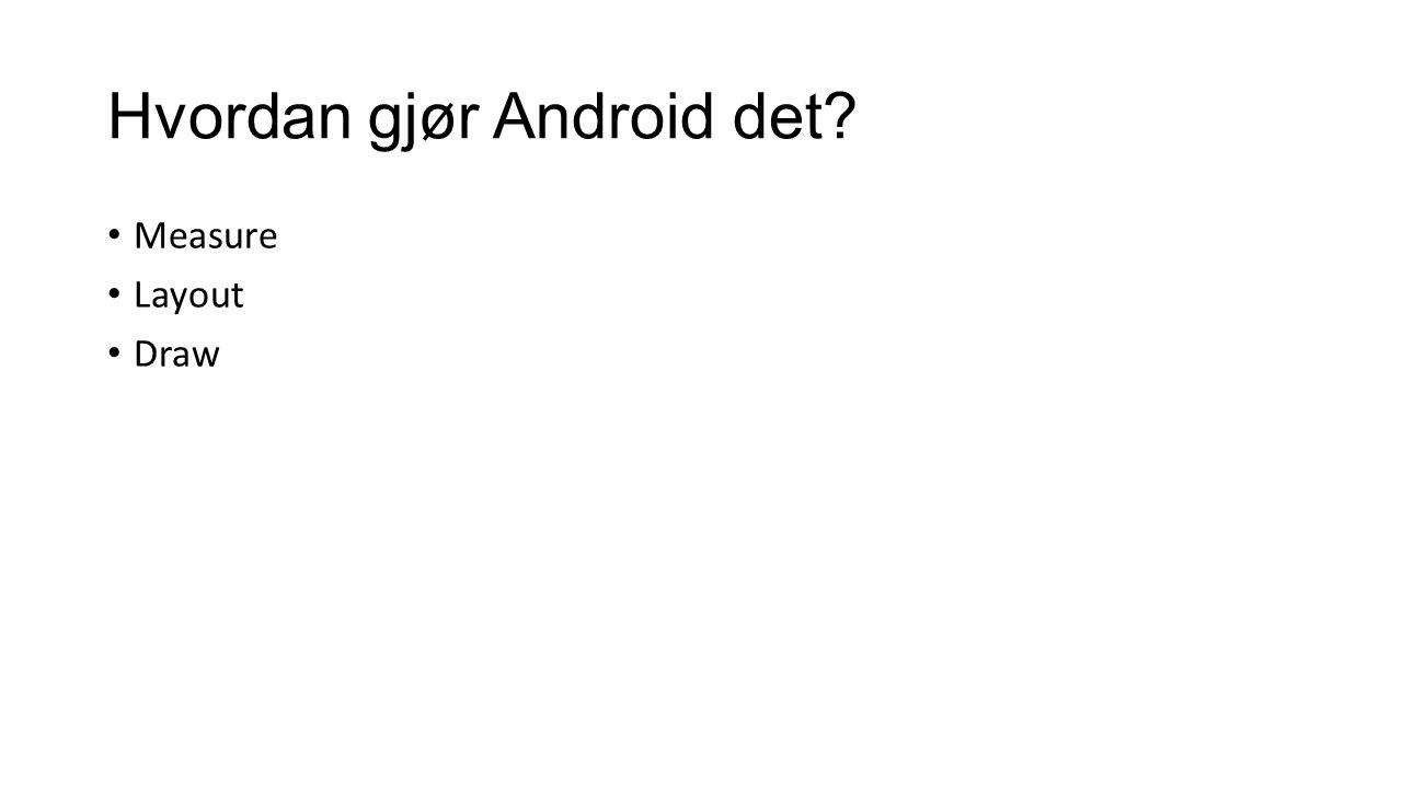 Hvordan gjør Android det