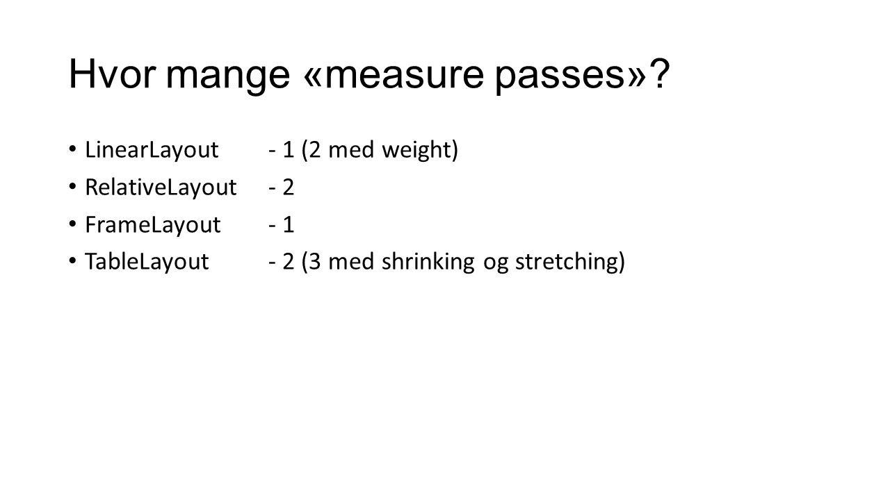 Hvor mange «measure passes»