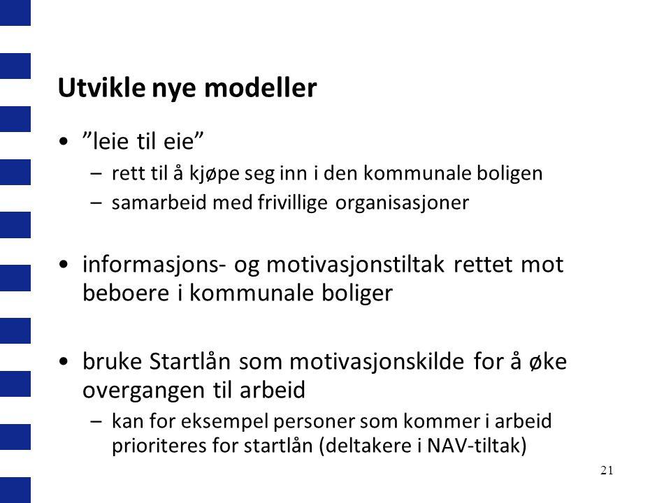 Utvikle nye modeller leie til eie