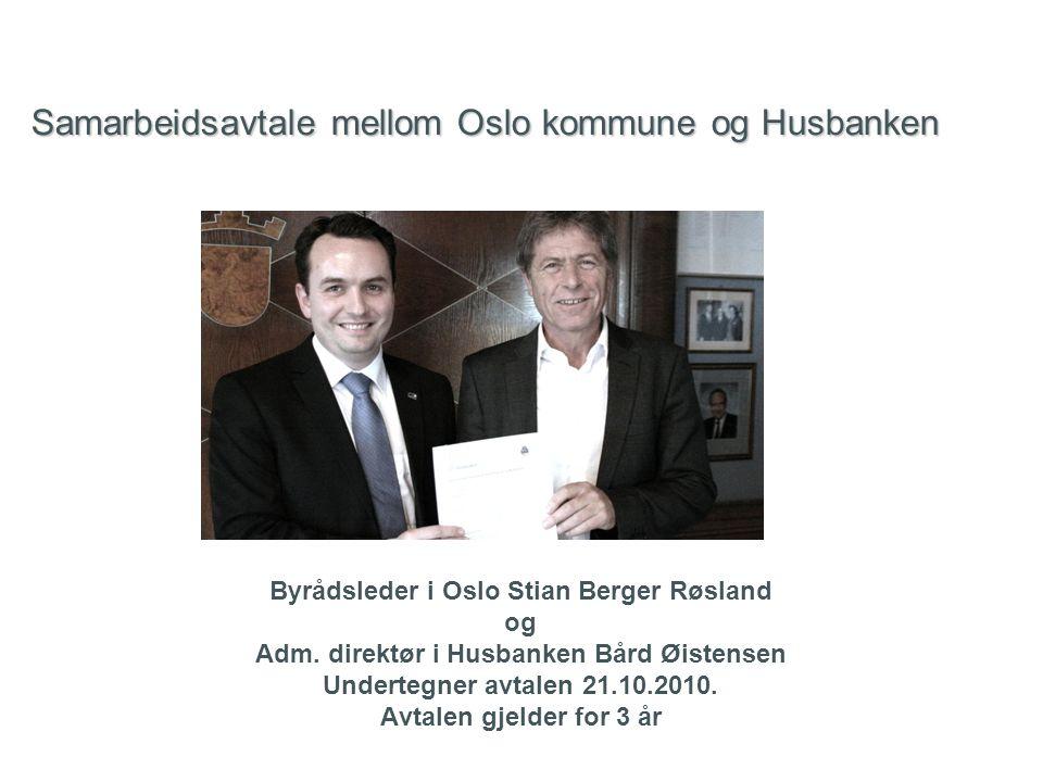 Samarbeidsavtale mellom Oslo kommune og Husbanken