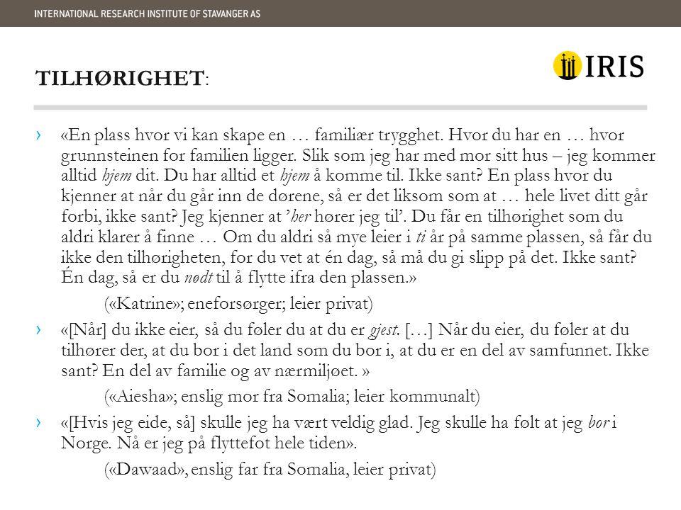 TILHØRIGHET: