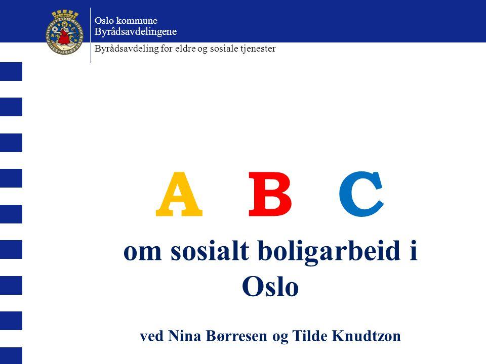 om sosialt boligarbeid i Oslo ved Nina Børresen og Tilde Knudtzon