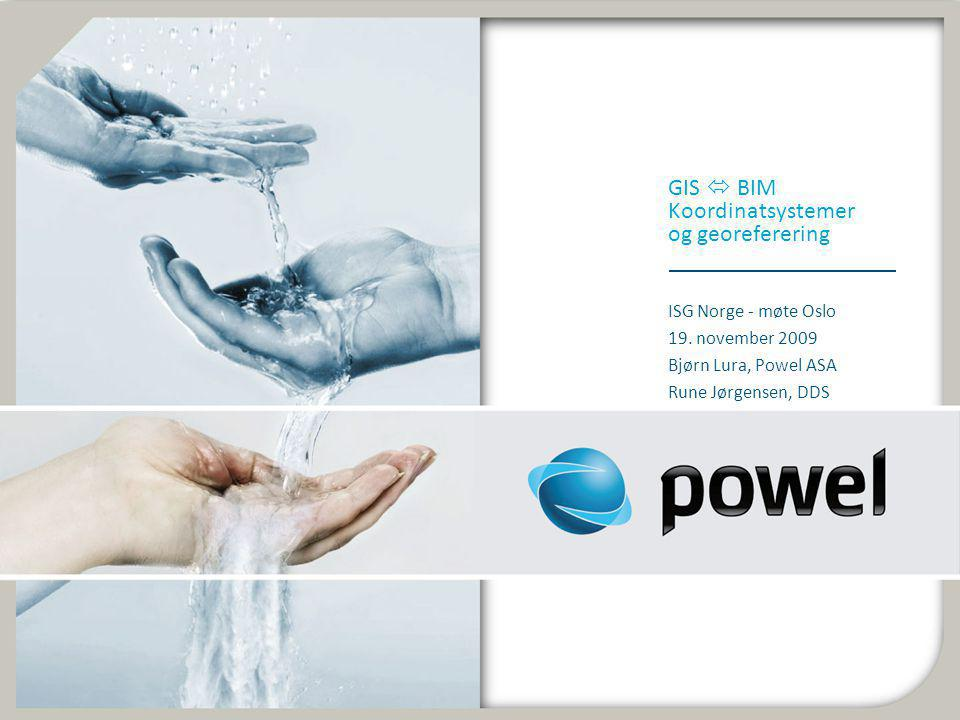 GIS  BIM Koordinatsystemer og georeferering