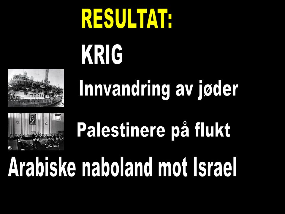 Arabiske naboland mot Israel