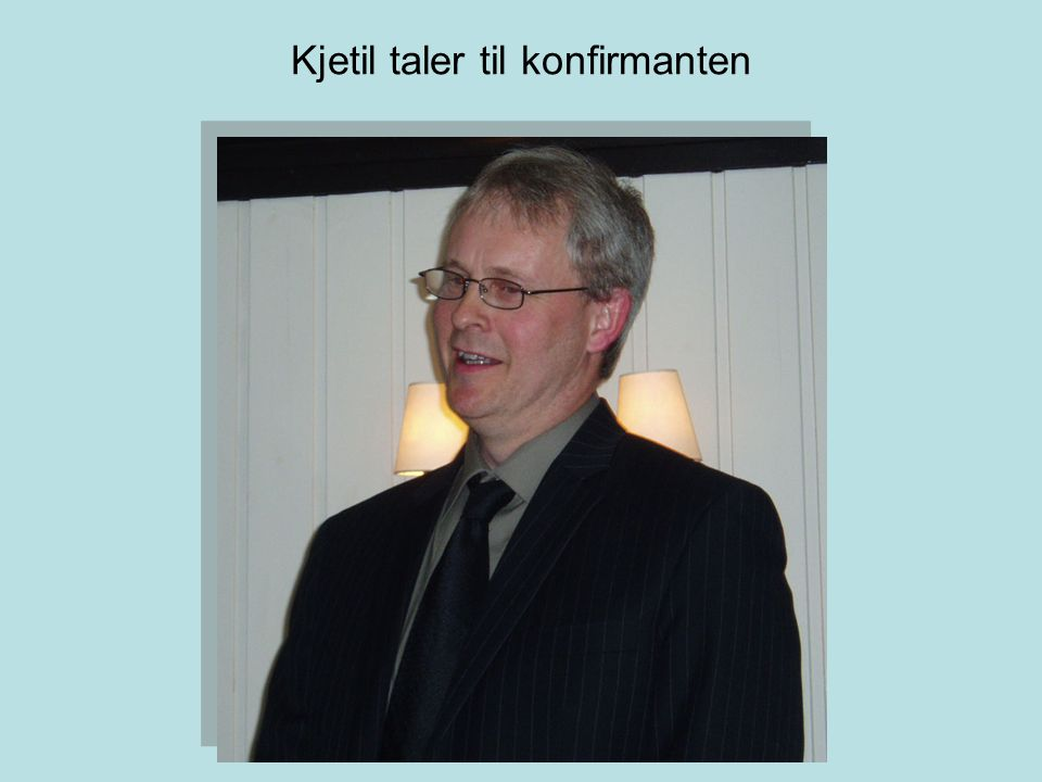 Kjetil taler til konfirmanten