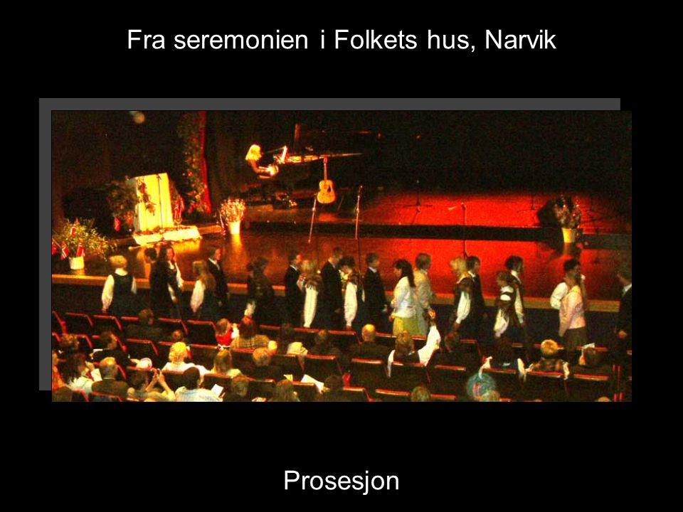 Fra seremonien i Folkets hus, Narvik