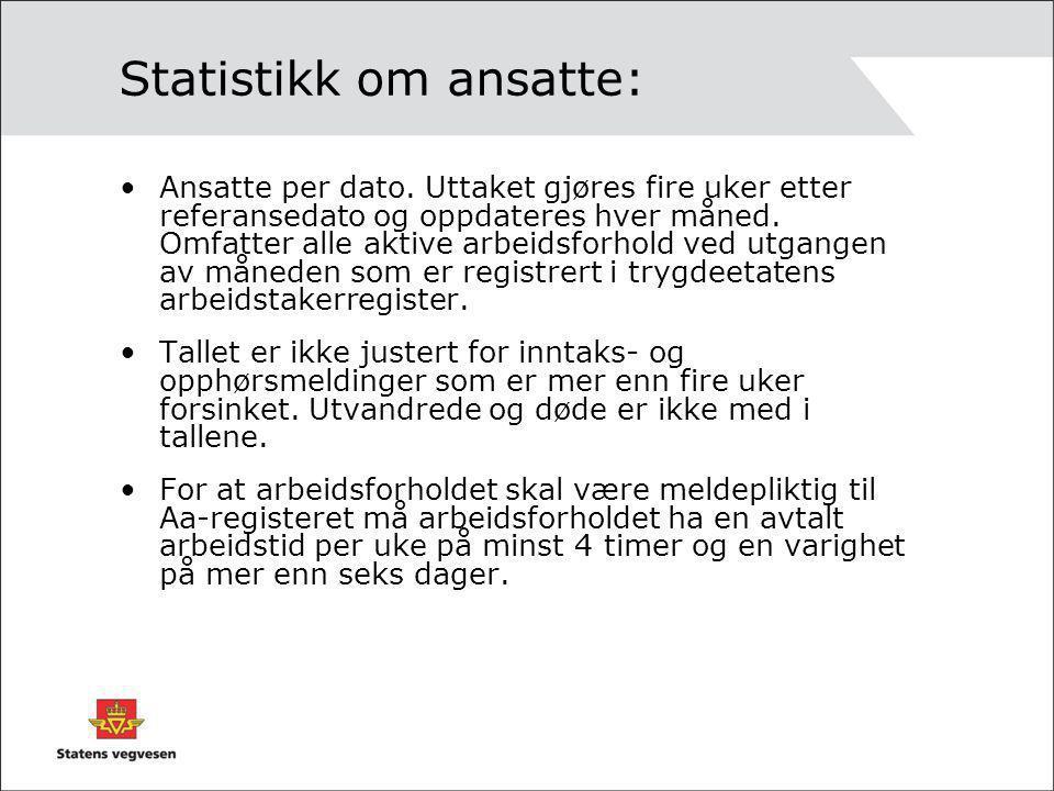 Statistikk om ansatte: