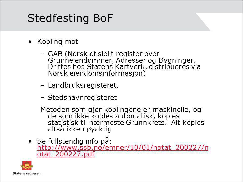 Stedfesting BoF Kopling mot