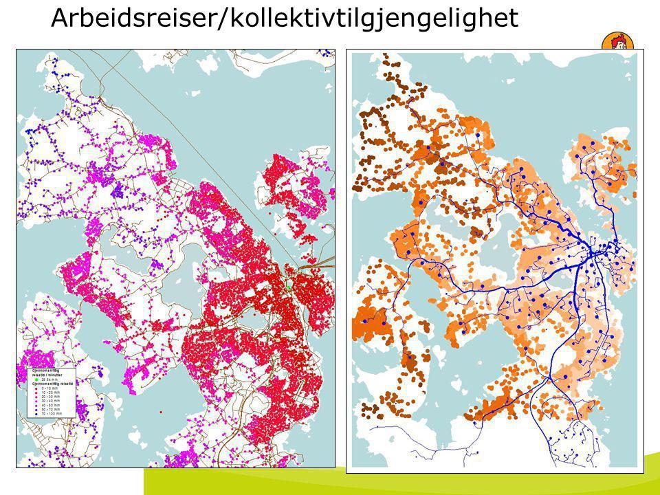 Arbeidsreiser/kollektivtilgjengelighet