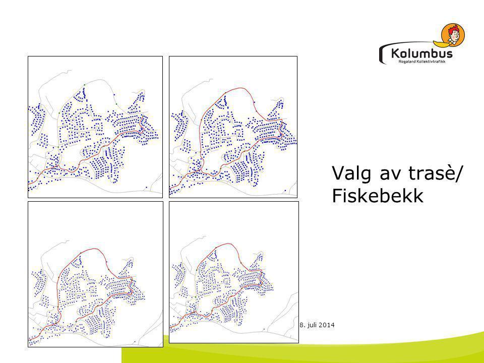 Valg av trasè/ Fiskebekk