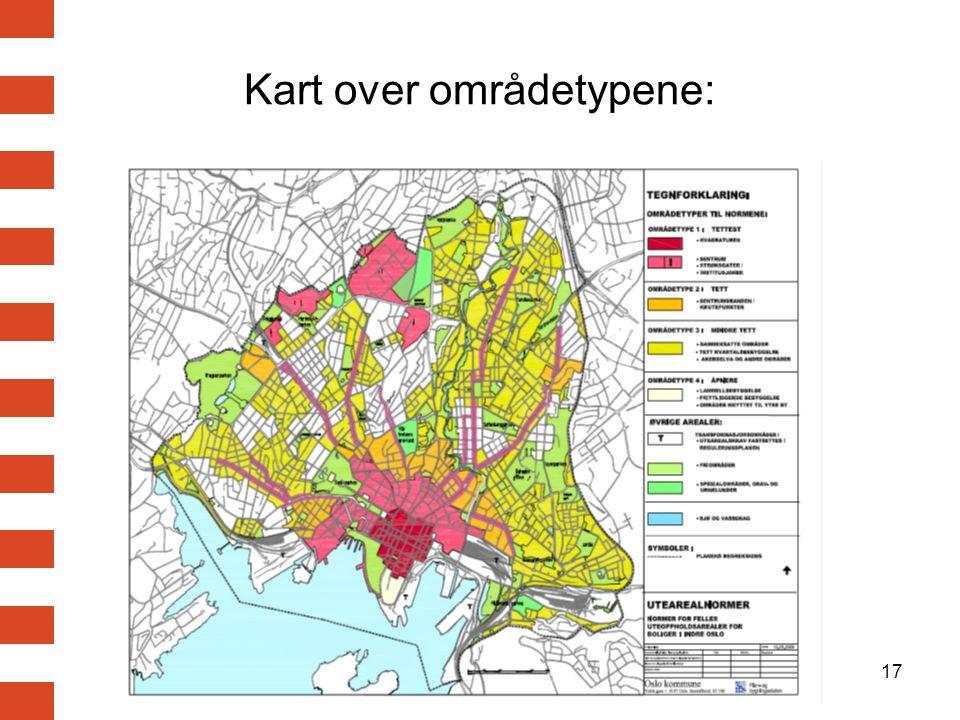 Kart over områdetypene:
