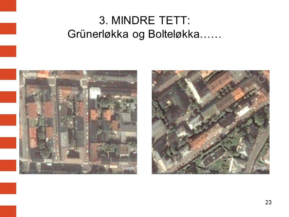 3. MINDRE TETT: Grünerløkka og Bolteløkka……