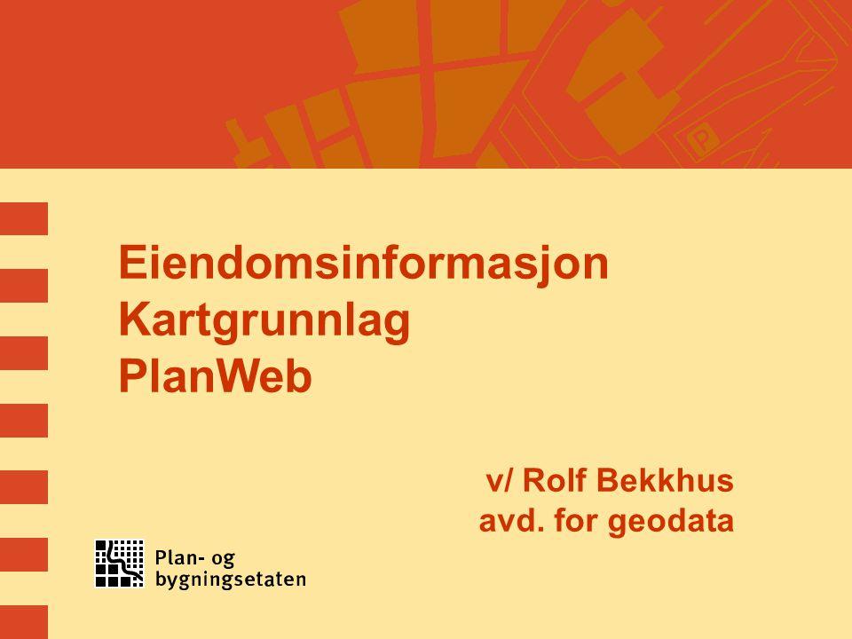 Eiendomsinformasjon Kartgrunnlag PlanWeb