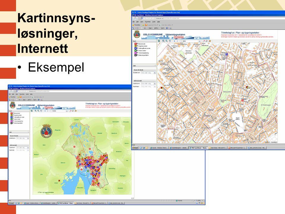 Kartinnsyns- løsninger, Internett