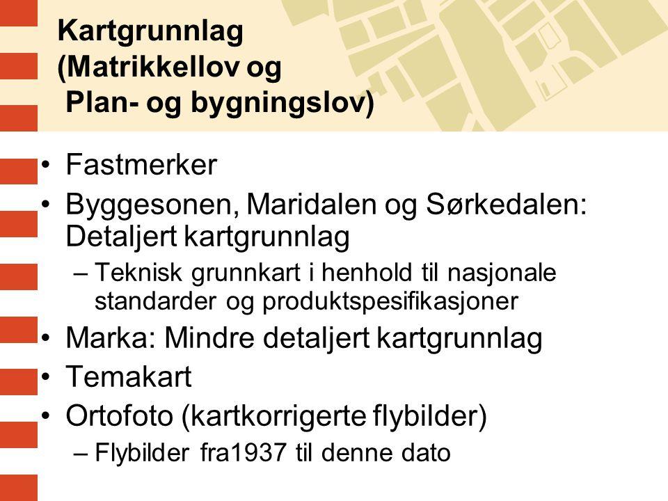 Kartgrunnlag (Matrikkellov og Plan- og bygningslov)