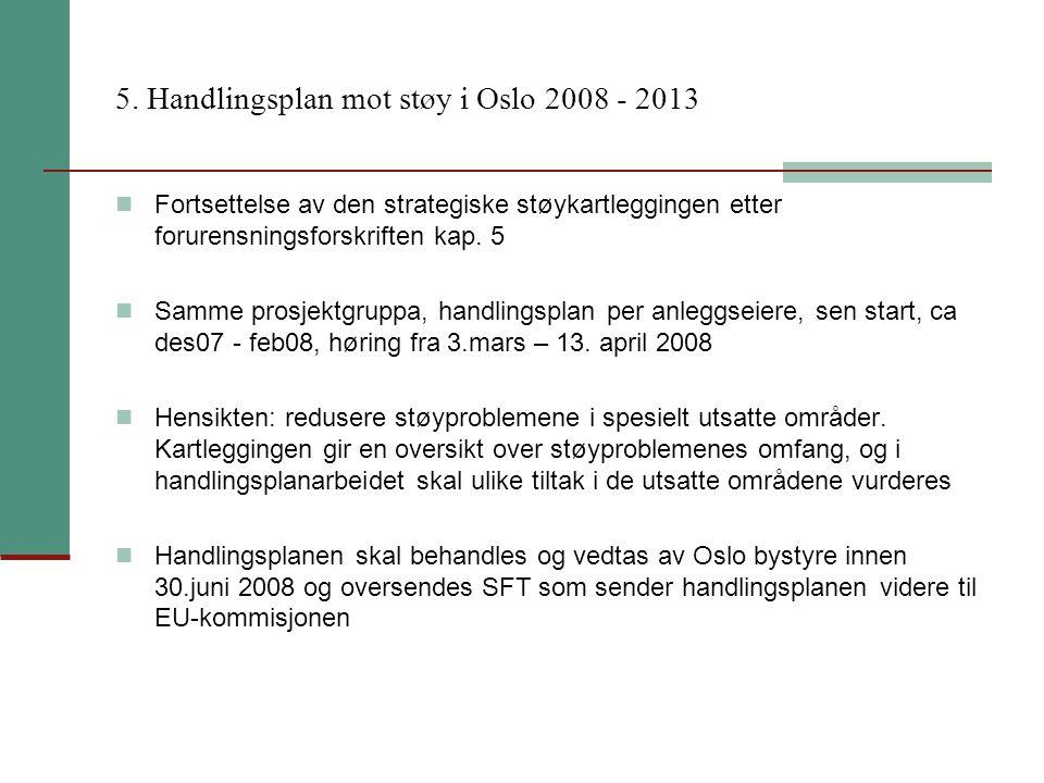 5. Handlingsplan mot støy i Oslo 2008 - 2013