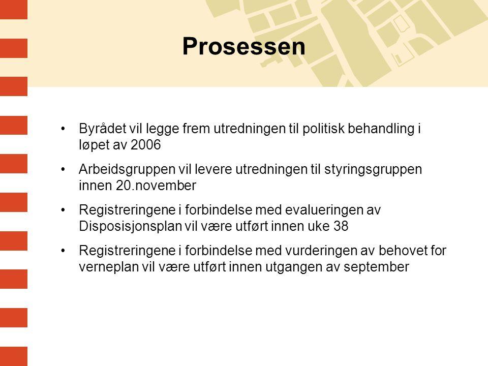 Prosessen Byrådet vil legge frem utredningen til politisk behandling i løpet av 2006.
