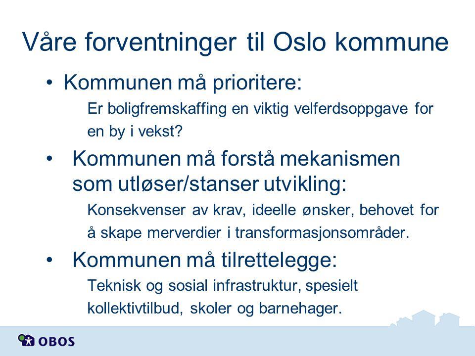 Våre forventninger til Oslo kommune
