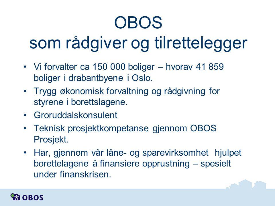 OBOS som rådgiver og tilrettelegger