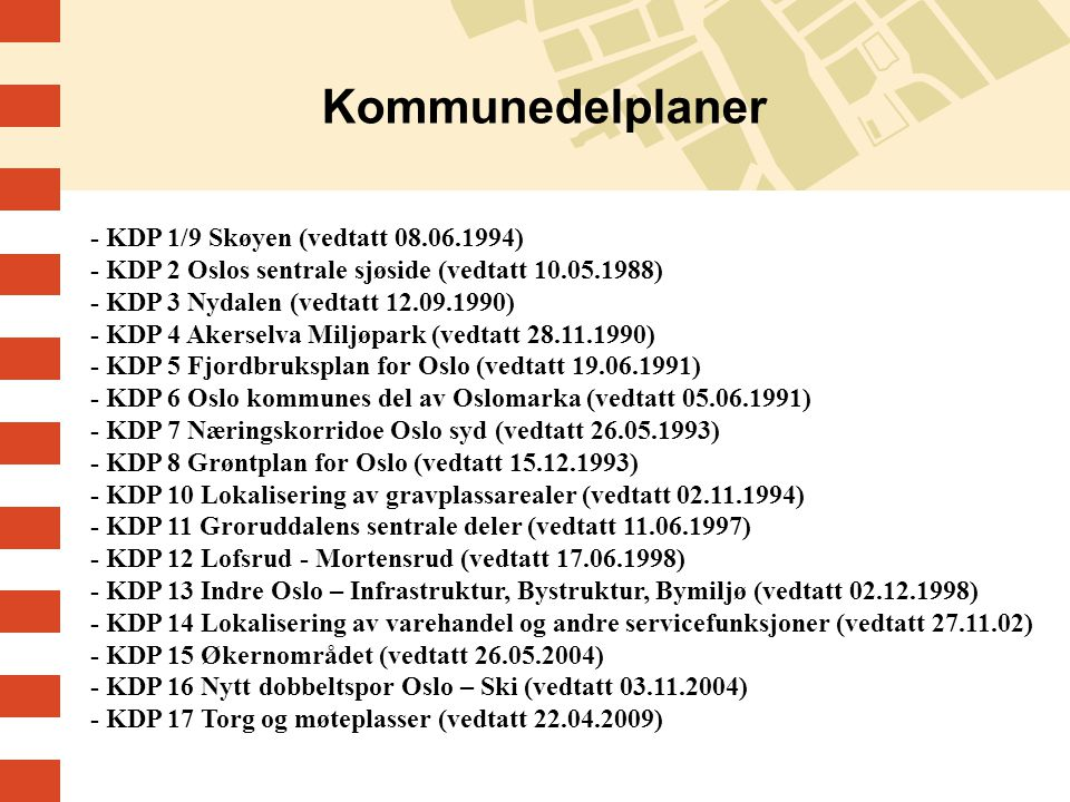 Kommunedelplaner
