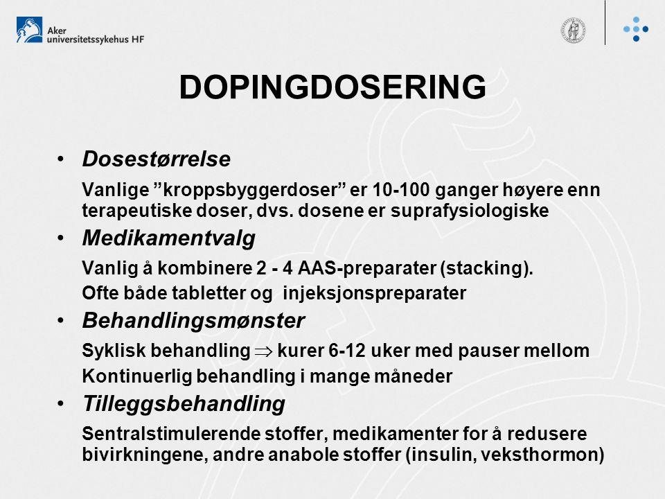 DOPINGDOSERING Dosestørrelse